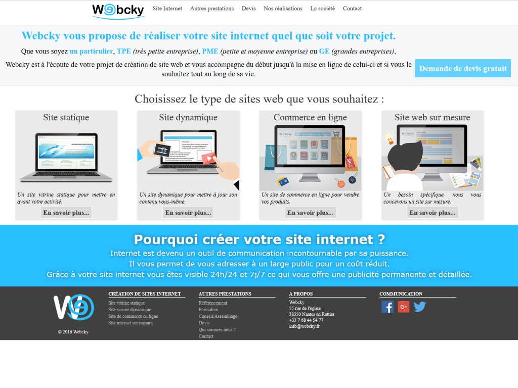 Webcky.fr Création de site internet La Mure (38 Is`re)